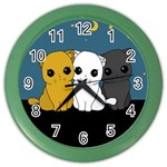 Cute cats Color Wall Clocks
