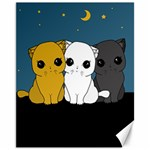 Cute cats Canvas 11  x 14