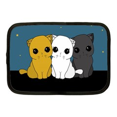 Cute Cats Netbook Case (medium)  by Valentinaart