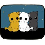 Cute cats Double Sided Fleece Blanket (Mini)
