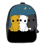 Cute cats School Bag (Large)