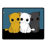 Cute cats Fleece Blanket (Small)