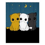 Cute cats Shower Curtain 60  x 72  (Medium)