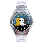 Cute cats Stainless Steel Analogue Watch