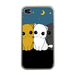 Cute Cats Apple Iphone 4 Case (clear) by Valentinaart