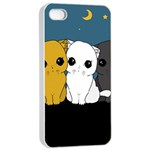 Cute cats Apple iPhone 4/4s Seamless Case (White)