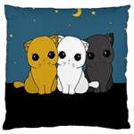 Cute cats Large Cushion Case (One Side)