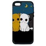 Cute cats Apple iPhone 5 Hardshell Case (PC+Silicone)