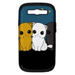 Cute cats Samsung Galaxy S III Hardshell Case (PC+Silicone)