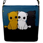 Cute cats Flap Messenger Bag (S)