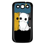 Cute cats Samsung Galaxy S3 Back Case (Black)