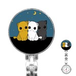 Cute cats Stainless Steel Nurses Watch