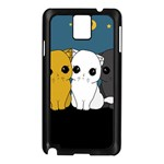Cute cats Samsung Galaxy Note 3 N9005 Case (Black)