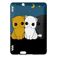 Cute Cats Kindle Fire Hdx Hardshell Case by Valentinaart