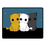 Cute cats Double Sided Fleece Blanket (Small)