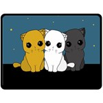 Cute cats Double Sided Fleece Blanket (Large)