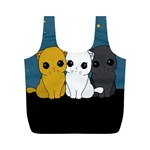 Cute cats Full Print Recycle Bags (M)