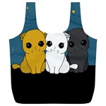 Cute cats Full Print Recycle Bags (L)