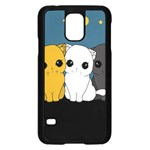 Cute cats Samsung Galaxy S5 Case (Black)