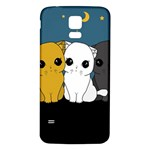 Cute cats Samsung Galaxy S5 Back Case (White)