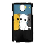 Cute cats Samsung Galaxy Note 3 Neo Hardshell Case (Black)