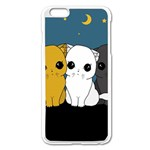 Cute cats Apple iPhone 6 Plus/6S Plus Enamel White Case