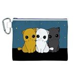 Cute cats Canvas Cosmetic Bag (L)