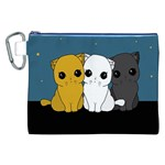 Cute cats Canvas Cosmetic Bag (XXL)