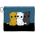 Cute cats Canvas Cosmetic Bag (XXXL)