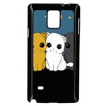 Cute cats Samsung Galaxy Note 4 Case (Black)