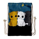 Cute cats Drawstring Bag (Large)
