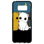 Cute cats Samsung Galaxy S8 Black Seamless Case