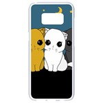 Cute cats Samsung Galaxy S8 White Seamless Case