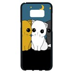 Cute cats Samsung Galaxy S8 Plus Black Seamless Case