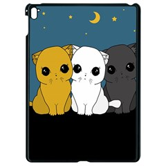 Cute Cats Apple Ipad Pro 9 7   Black Seamless Case by Valentinaart