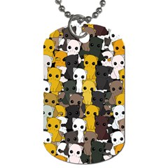 Cute Cats Pattern Dog Tag (two Sides)