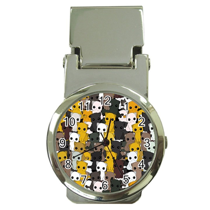 Cute cats pattern Money Clip Watches