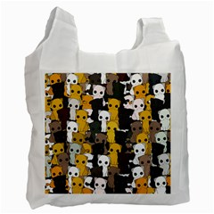 Cute Cats Pattern Recycle Bag (one Side) by Valentinaart
