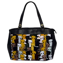 Cute Cats Pattern Office Handbags by Valentinaart