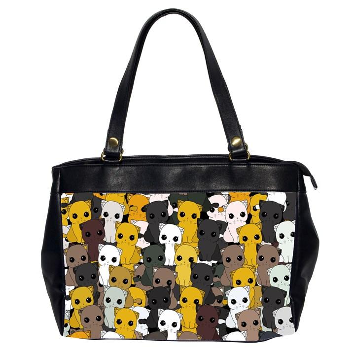 Cute cats pattern Office Handbags (2 Sides)