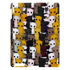 Cute Cats Pattern Apple Ipad 3/4 Hardshell Case by Valentinaart