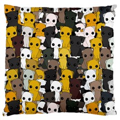 Cute Cats Pattern Large Cushion Case (two Sides) by Valentinaart