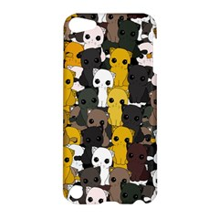 Cute Cats Pattern Apple Ipod Touch 5 Hardshell Case by Valentinaart