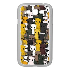 Cute Cats Pattern Samsung Galaxy Grand Duos I9082 Case (white) by Valentinaart