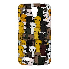 Cute Cats Pattern Samsung Galaxy Mega 6 3  I9200 Hardshell Case by Valentinaart