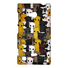 Cute Cats Pattern Nokia Lumia 720 by Valentinaart