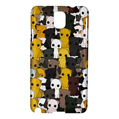 Cute Cats Pattern Samsung Galaxy Note 3 N9005 Hardshell Case by Valentinaart