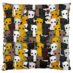 Cute Cats Pattern Standard Flano Cushion Case (one Side) by Valentinaart