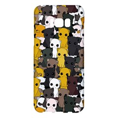Cute Cats Pattern Samsung Galaxy S8 Plus Hardshell Case  by Valentinaart