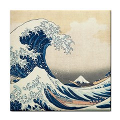 The Classic Japanese Great Wave Off Kanagawa By Hokusai Tile Coasters by PodArtist